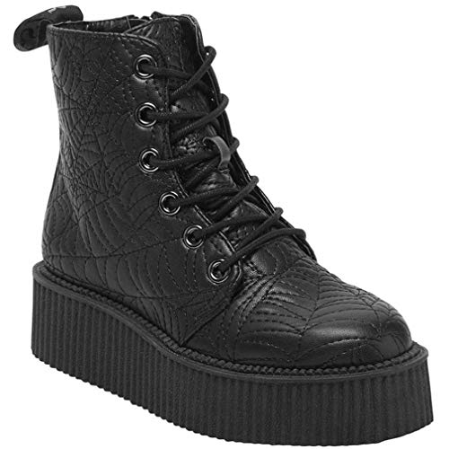 Killstar - Zapatillas de Sintético para Mujer Negro Negro One Size, Color Negro, Talla 37 EU