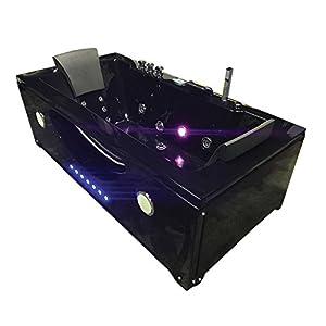 Bañera hidromasaje Modelo HYPNOTIC 180 x 90 cm Para 2 Bañera de esquina hidromasaje Nueva Terapia luz de colores