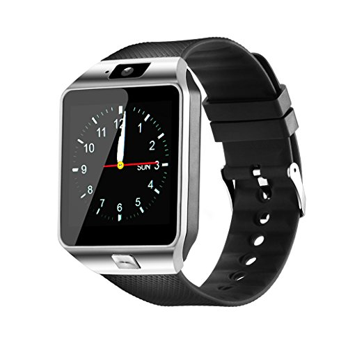 Smartwatch, Bluetooth Watch und Entsperrt Handy-Uhr alle in einem für Android-Smartphones Samsung Sony LG und IOS iPhone-Silber (golden) (Htc Handy Entsperrt Android)