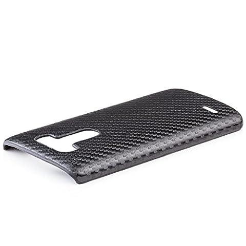 iCues LG G3 Carbon Cover - Schwarz - Hochwertiges Carbon Design + Displayschutzfolie