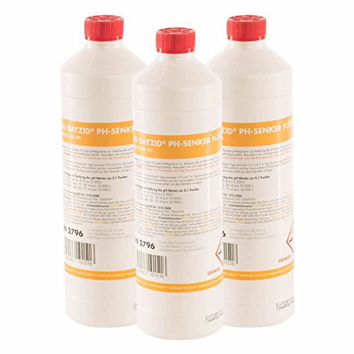 6 x 1 kg pH Senker Minus flüssig von Höfer Chemie - DAS ORIGINAL für einen optimalen pH-Wert und eine gute Wasserqualität (1 Senker)