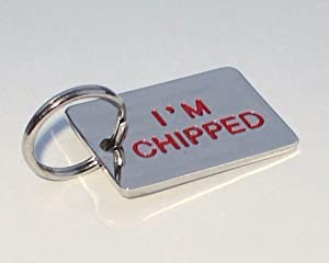 Personalised Engraved I'm Chipped Pet ID Dog Tag by County Engraving