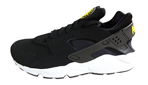 save off d8f82 519bd nike air huarache mens running trainers 318429 sneakers shoes (uk 12 us 13  eu 47.5, black tour yellow white 007) - Buy Online in Oman.