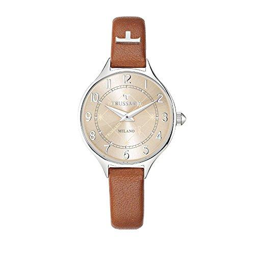 TRUSSARDI Reloj Analógico para Mujer de Cuarzo con Correa en Cuero R2451122503