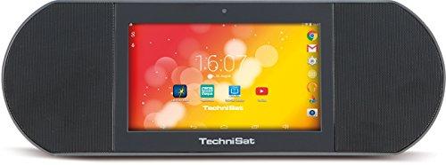 TechniSat TECHNISOUND PAD-stationäres Soundsystem ohne Akku(Android 4.4, 1,3GHz Quad-Core-Prozessor, 1GB RAM, 8GB interner Speicher, microSD, HDMI, Audio-Ausgang 3,5mm Klinke, Fernbedienung)anthrazit
