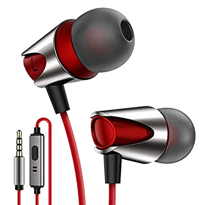 In-Ear Headphones,High Definition Wired Earphones Comfortable Tangle Free Earbuds with Deep Bass for iPhone,iPod,Android Smartphones MP3 Players Tablets and all 3.5mm Audio Jack[Gift Package]