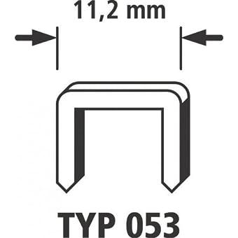 Wolfcraft 7015000 Agrafes larges acier Type 053 4 mm Lot de 3000