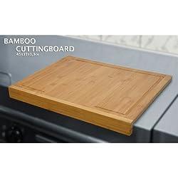 BBTradesales Tabla de cortar de bambú con el contador de flancos