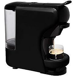 IKOHS Machine à café Expresso Italien - Cafetière Multi-dosettes Nespresso 3 en 1 Life, 1450 W, 19 Bars, Réservoir 0,7 L, Machine à Café Nespresso, Automatique, Qualité Professionnelle Noir