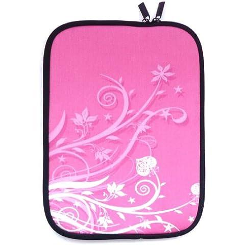 Emartbuy® Rosa Garden Resistente Al Agua Estuche De Neopreno Zip Soft / Case / Carcasa / Funda / Cubierta Para Sony VAIO Fit 15 Multi-Flip (15-16 Inch Laptop / Notebook)