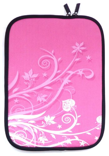 Emartbuy® Rosa Garten Water Resistant Neopren Soft Zip Case Cover geeignet für MSI GP60-2QFi585FD 15.6 Zoll Notebook (15-16 Zoll Laptop/Notebook / Ultrabook)