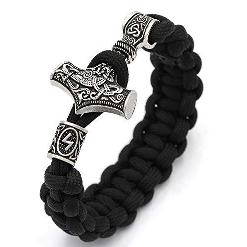 SSRSHDZW Herren Armband Perlen Anhänger Schmuck Gewebt Leder Seil Manschette Vintage Armband Geburtstag - Einfach Mythologie Kostüm