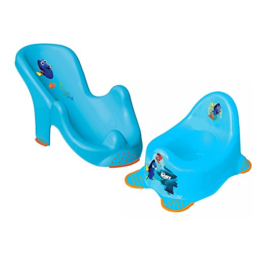 Finden Dory anatomisch, Baby Bad Sicherheit Wiege 1. Sitz Unterstützung Tub Stuhl Neugeborene Badende rutschsichere Füße W/Töpfchen Stuhl Training Sitz für Baby Kleinkinder Kinder WC-Trainer in blau