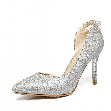 RUGAI-UE Estate Moda Donna Sandali casual PU Scarpe comfort tacchi a piedi all'aperto,argento,US7.5 / EU38 / UK5.5 / CN38 Gray