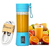 Vmoni Portable USB Juicer Blender 380 ml Bottle with USB Charging Cable (Multi Color)