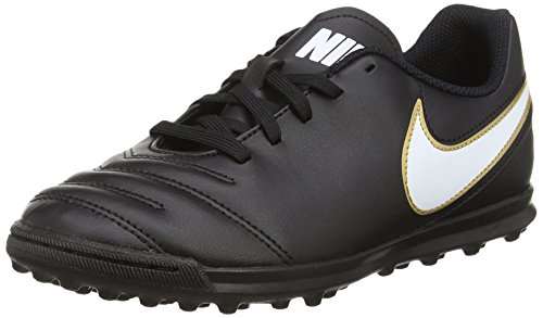 Nike Tiempo Rio III TF, Unisex-Kinder Fußballschuhe, Schwarz (Black/White), 36.5 EU (4 UK) (Tiempo Rio)