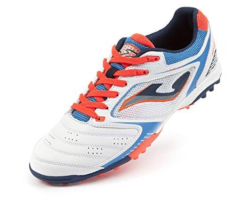 Joma , Chaussures pour homme spécial foot en salle Blanc Cassé ORANGE/WHITE/BLUE Blanc Cassé - ORANGE/WHITE/BLUE