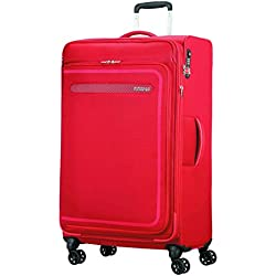 American Tourister Airbeat - Spinner 80/30 Expandable Equipaje de Mano, 80 cm, 112 Liters, Rojo (Pure Red)