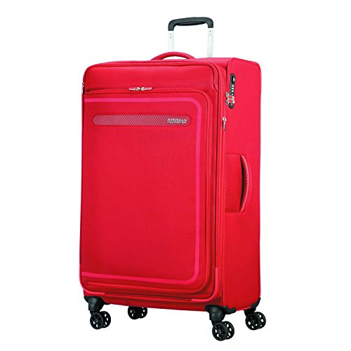 American Tourister Airbeat - Spinner 80/30 Expandable Koffer, 80 cm, 112 L, Pure Red