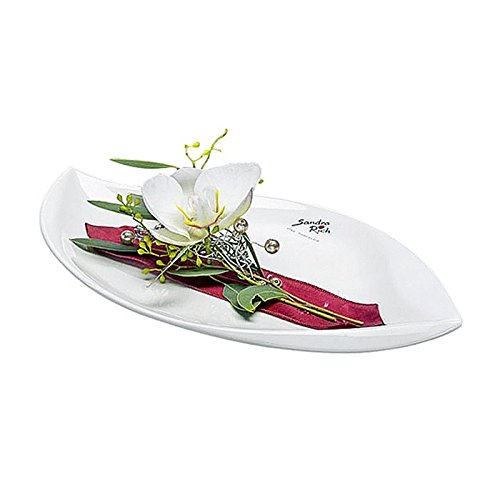 Blattschale porcelaine diam. 27 cm blanc