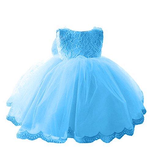 Kostüm Sicherheitsnadel Kleid - YiZYiF Kleinkinder Baby Mädchen Kleid Blumenspitze Prinzessin Kleid Hochzeit Partykleid Tüll Festzug Gr. 68 74 80 86 92 (86 (Herstellergröße: 75), Blau)