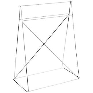 Eurosilla Office – Juego de caballetes metálicos, color plateado, para mesa de diseño para oficina o escritorio