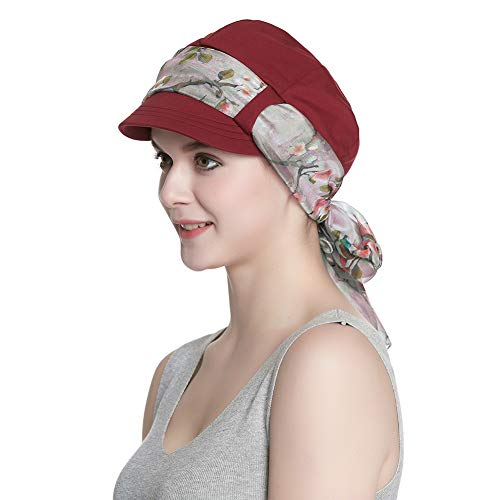 Alnorm Womens Zeitungsjunge Cabbie Beret Cap Weiche Hüte für Chemofrauen (Cabbie Für Cap Frauen)