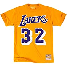 Mitchell & Ness La Lakers Magic Johnson - Camiseta, Amarillo, Medium