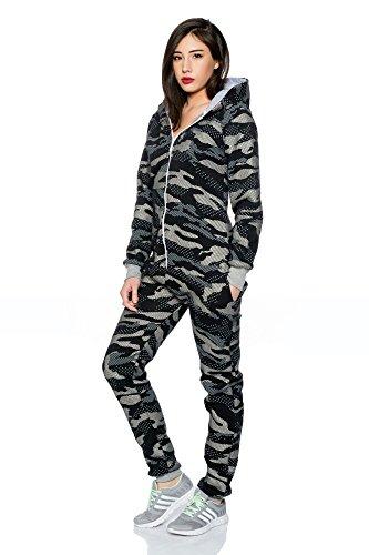 Crazy Age Jumpsuit Overall Einteiler CA 2840 Trendigen Camouflage Farben (XL, Schwarz (A)) - 3