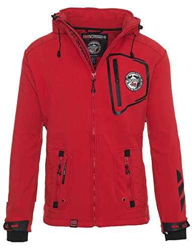 Geographical Norway Herren Softshell Jacke Funktionsjacke Outdoor Regen Sport Rot