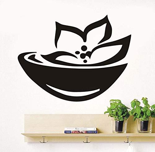 xlei Wandaufkleber Asian Spa Zeichen Und Symbol Wandaufkleber Lotus Blumen Kunst Removable Selbstklebende Tapete Wohnzimmer Aufkleber Home Decor76X58Cm - Symbol Spas