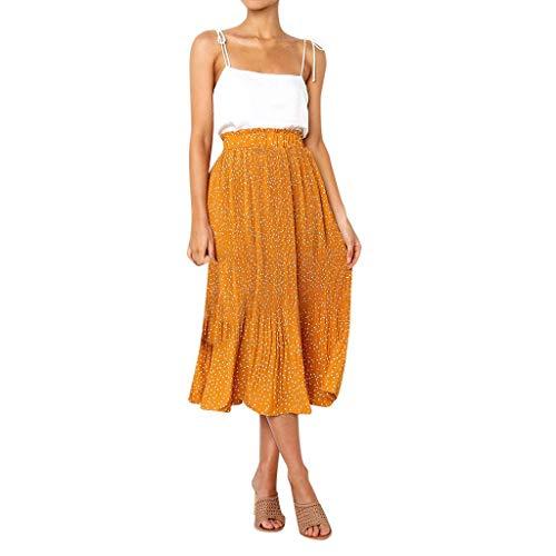 Missoul Damen Vintage Kleider Boho Sommerkleid V-Ausschnitt Maxikleid Kurzarm Strandkleid mit Schlitz - Barbie-puppen Ethnische