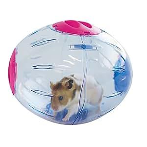 Boule d'exercice pour hamster Sphère d'activitée tournante avec support IMAC diamètre 19 cm environ