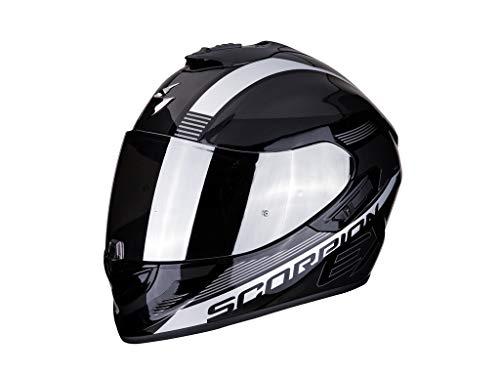 SCORPION Casque moto EXO-1400 AIR FREE Metal black-Silver, Noir/Gris, XL