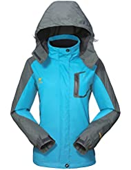 Waterproof Jacket Womens Rain coats -GIVBRO 2017 New Design warm and light weight Camping Hiking Mountaineering Running Jackets