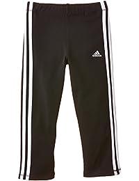 Adidas YG ESS 3S 34 TI - Pantalón para niña, Color Negro/Blanco