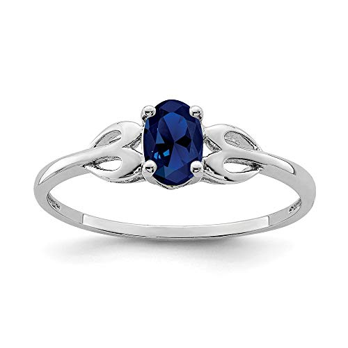 925Sterling Silber Blau Saphir Solitaire Engagement Ring Größe 6 (Saphir-gold-ring)