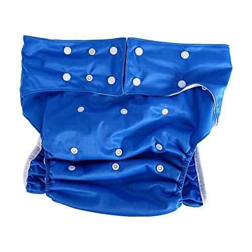 Erwachsenen-Windelhose, Inkontinenz-Windel, verstellbar, waschbar, doppelte Öffnung, wiederverwendbar, auslauffreie Einlage, Stoffwindeln für Behindertenpflege, Taillenumfang 71,1-119,4 cm