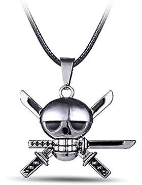 Papapanda Halskette für One Piece Kette mit Roronoa Zoro Anhänger Piratenbande