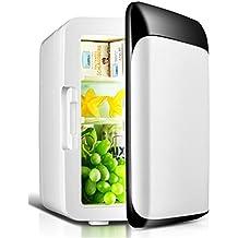 10L mini refrigerador del coche de refrigerador del coche 12V Caja del refrigerador de doble uso caliente / fría Inicio / portable del coche de la nevera fría y caliente Incubadora (blanco) , black and white