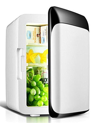 10L Mini-Kühlschrank Auto Kühlschrank 12V Auto-Kühlbox Dual-Use-warm / kalt Home / Auto tragbaren Icebox Kalt- und Warm-Inkubator (weiß) , black and white (10 Liter Trinken Kühler)