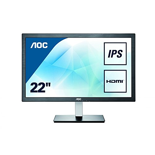 AOC I2276VWM 21.5 inch Widescreen IPS Multimedia Monitor - Black/Silver (1920x1080, VGA, HDMI, 5ms)