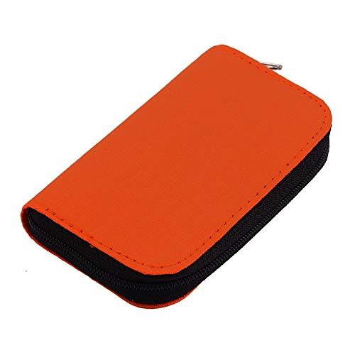 Hnourishy 4 Farben sd sdhc mmc cf für Micro sd speicherkarte lagerung Tragetasche Box case Halter Schutz Brieftasche großhandel Shop - orange (Großhandel Brieftaschen)