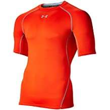 Under Armour Armour Hg Ss T, Camiseta de manga corta Para Hombre, Naranja, XXL