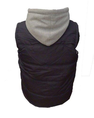 - Danny-WCM - 2100 capuche amovible-Doudoune sans manches Multicolore - Bleu marine/gris