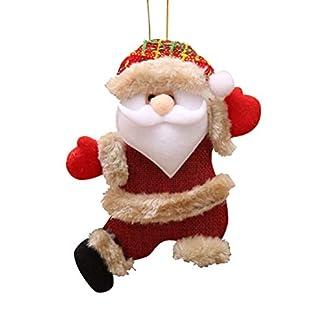 STOBOK Colgando Decoraciones navideñas Adornos de Navidad Animales de Peluche Suave Felpa Santa Claus Muñeca árbol de Navidad Decoraciones niños