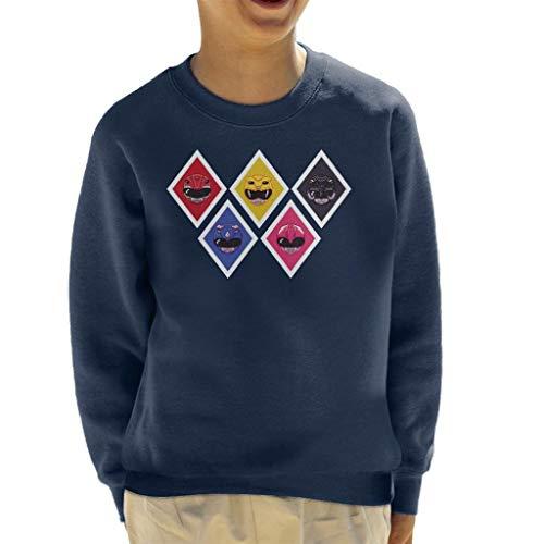 Cloud City 7 Power Ranger Pixel Helmets Kid's Sweatshirt (Ranger Kid Power)