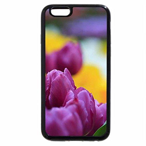 iPhone 6S / iPhone 6 Case (Black) Rainbow of Tulips