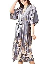 ff65ba605d1b Amazon.it  fiori - L   Vestaglie e Kimono   Pigiami e camicie da ...