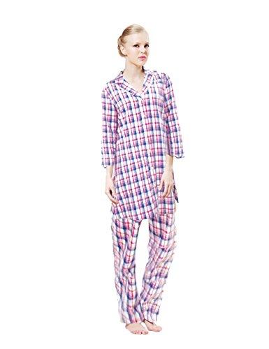 Raikou karierter Pyjama für Jung und Alt Rotkariert